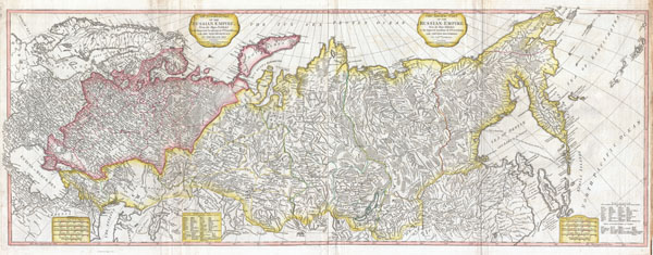 The European Part of the Russian Empire, from Maps Published by the Imperial Academy at St. Petersburg, with the New Provinces on the Black Sea.  - The Asiatic Part of the Russian Empire from the Maps Published by the Imperial Academy of St. Petersburg, with the New Discoveries of Captian Cook & co.