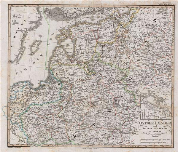 Ostsee-Laender und Inneres Russland bis Moskau.