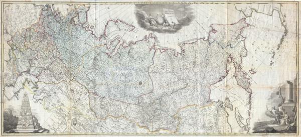 Nova Tabula Geographica Imperii Russici in Gubernia Divisi Edita 1787