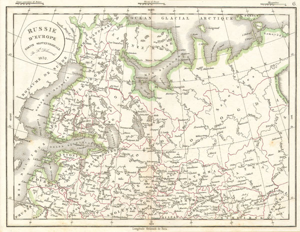 Russie d'Europe partie Septentrionale. - Main View