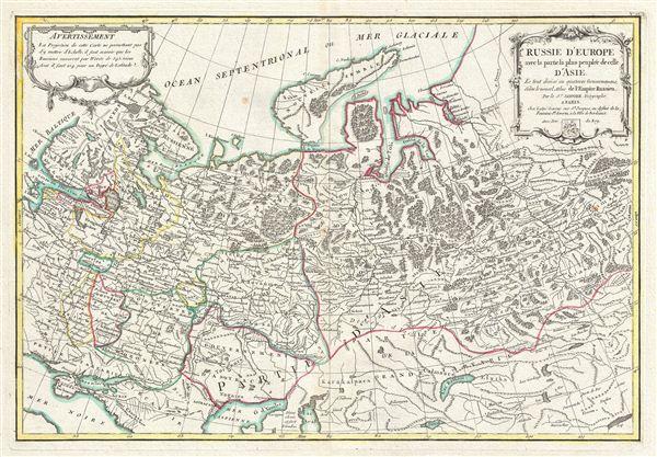 Russie D'Europe avec la partie la plus peuplee de celle D'Asie.