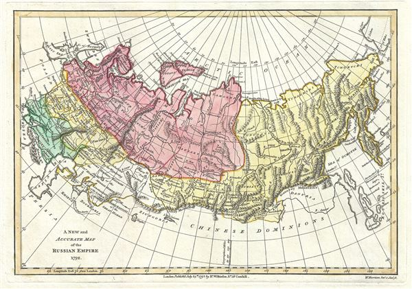 A New and Accurate Map of the Russian Empire 1792.