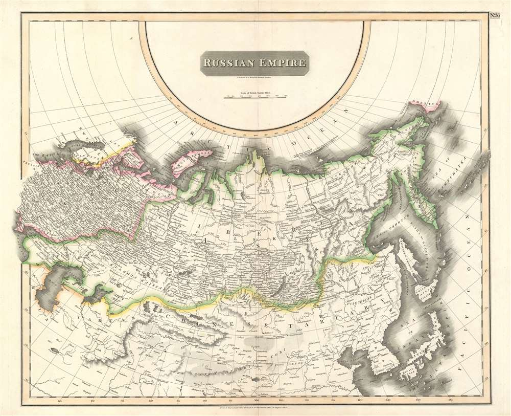 1814 Thomson Map of the Russian Empire in Europe and Asia