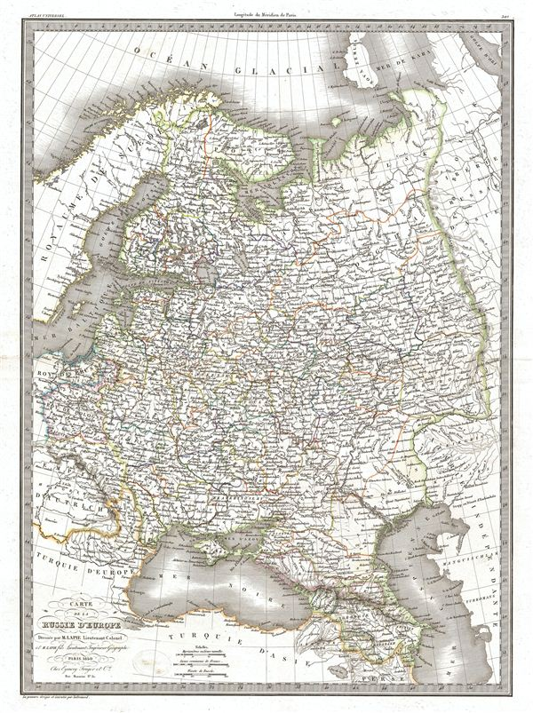 Carte de la Russie d'Europe.