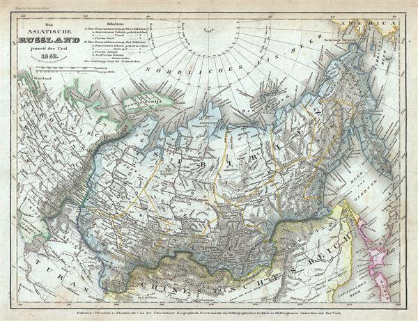 Das asiatische Russland jenseit des Ural.