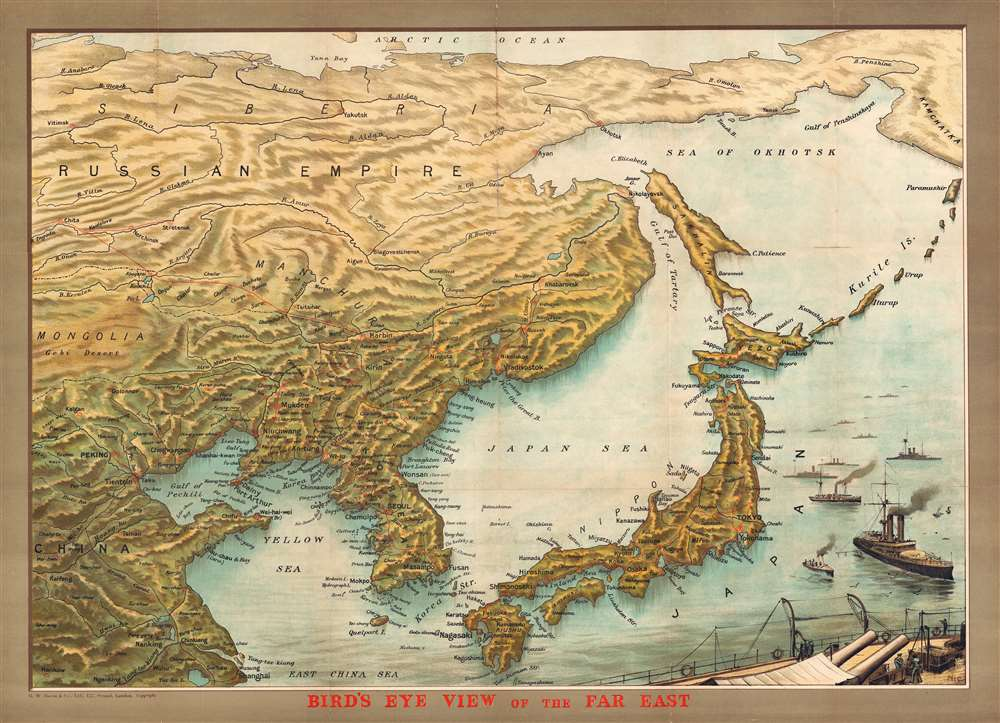 Bird's Eye View of the Far East. - Main View