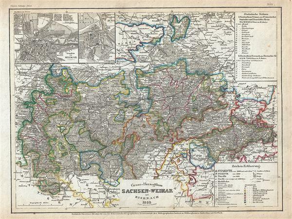Gross-Herzogthum Sachsen-Weimar und Eisenach. - Main View