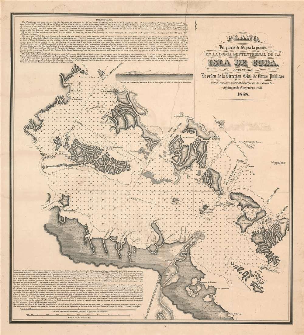 Plano del puerto de Saguya la Grande, el la costa Septentrional de la Isla de Cuba. - Main View