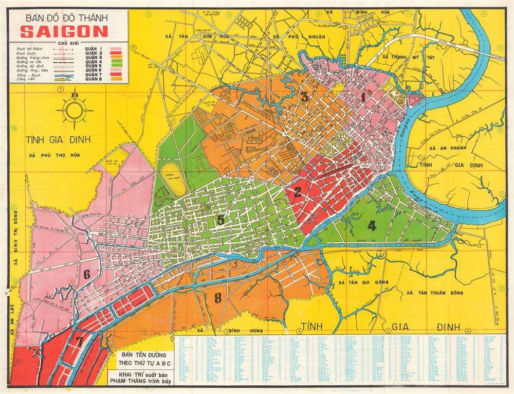 Bản Đồ Đô Thành Saigon. [Map of the City of Saigon]. - Main View