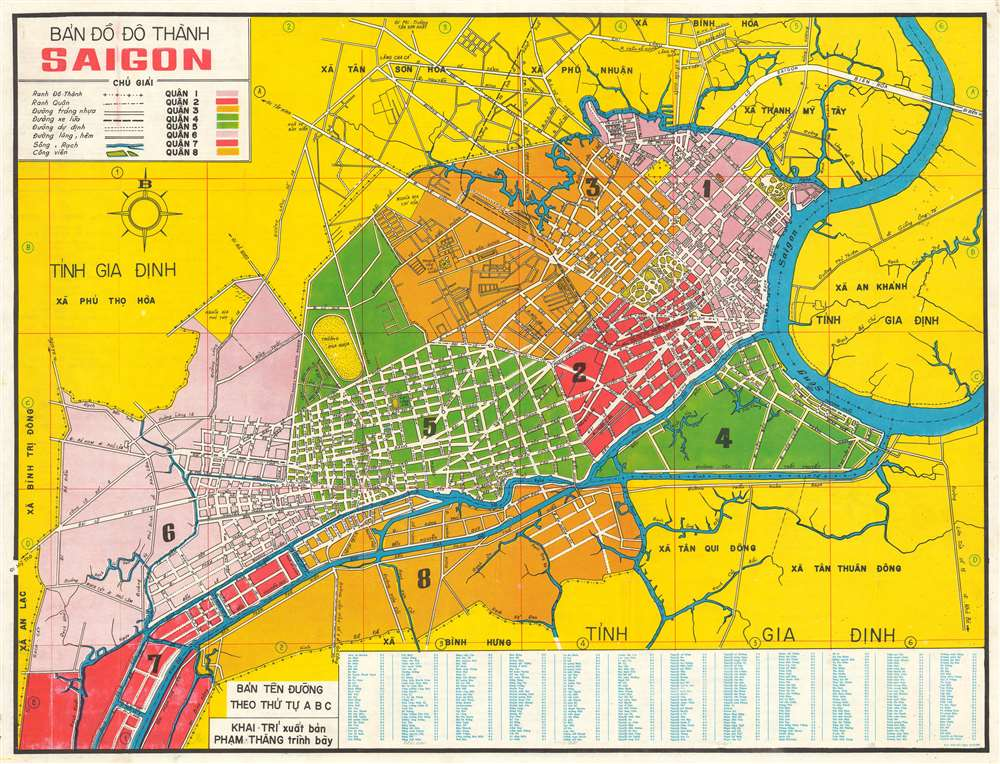 1966 Thang City Map or Plan of Saigon, South Vietnam