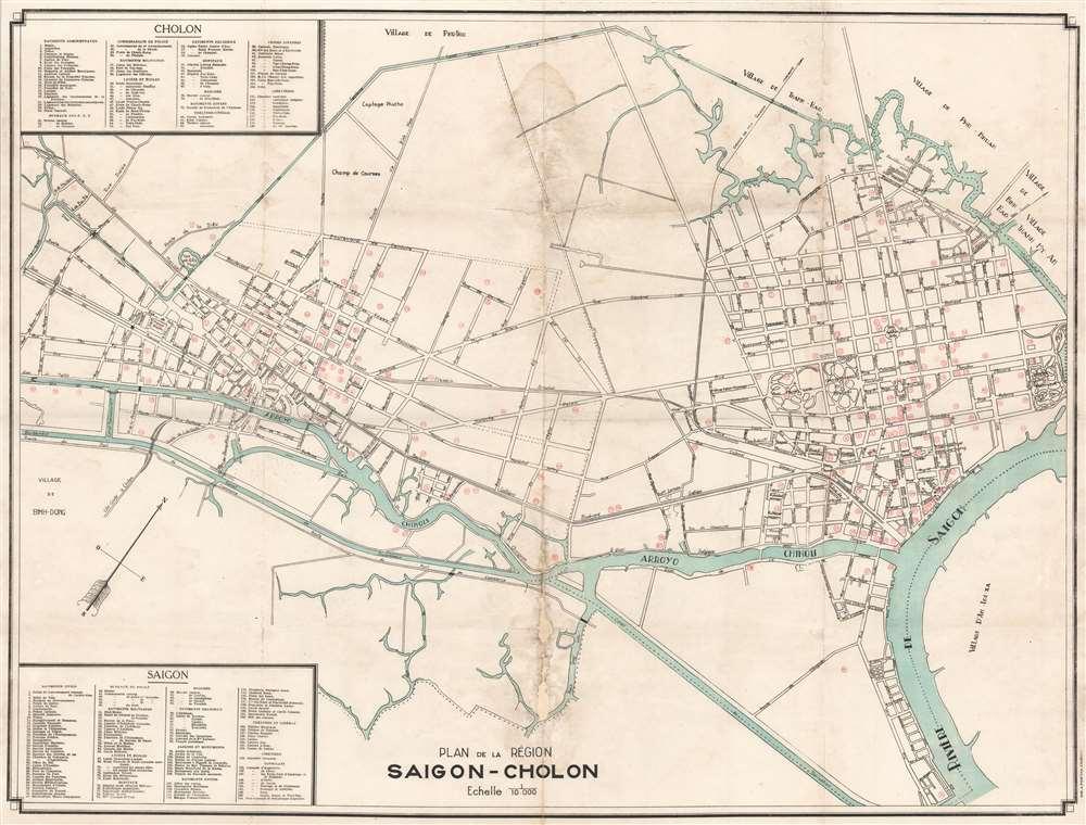 Plan de la Région Saigon-Cholon. - Main View