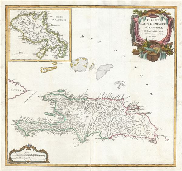 Isles de Saint Domingue ou Hispaniola, et de la Martinique.