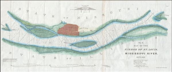 No. 3. Map of the Harbor of St. Louis, Mississippi River. Oct. 1837.