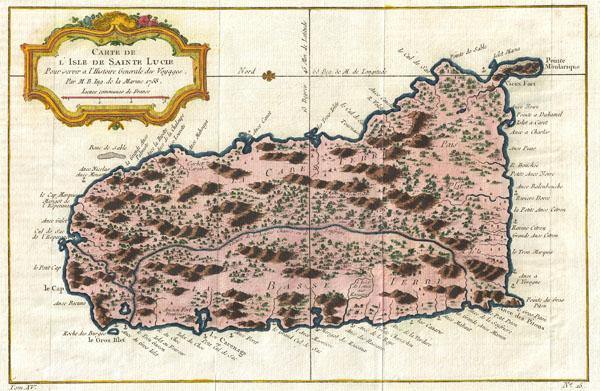 Carte de L'Isle de Sanite Lucie. - Main View