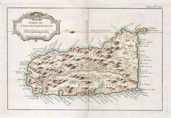 Carte de L'Isle de Sainte Lucie. - Main View