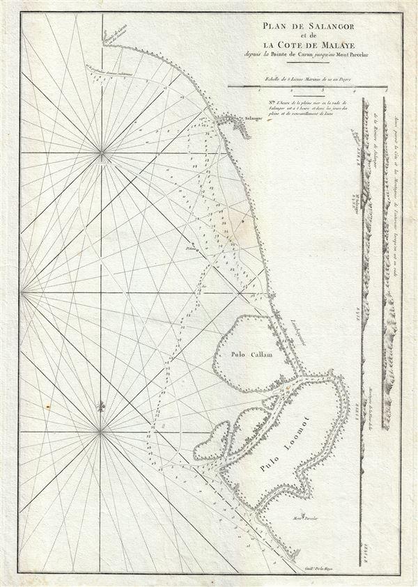 Plan de Salangor et de La Cote de Malaye depuis al Pointe de Caran jusqu au Mont Parcelar.