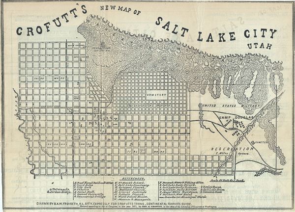 Crofutt's New Map of Salt Lake City Utah.