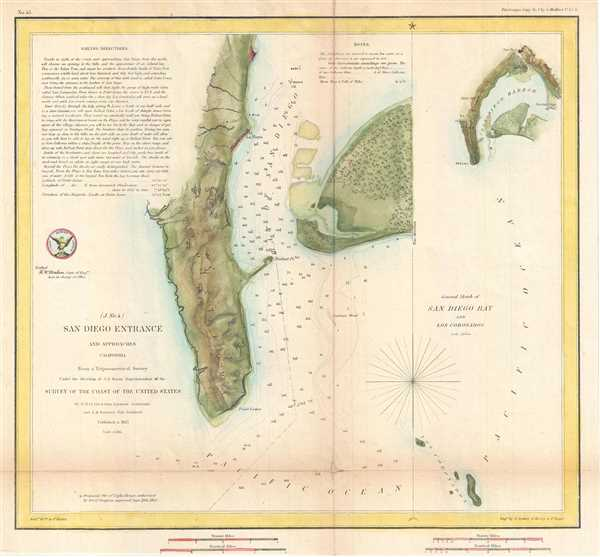General Sketch of San Diego Bay and Los Coronados - Main View