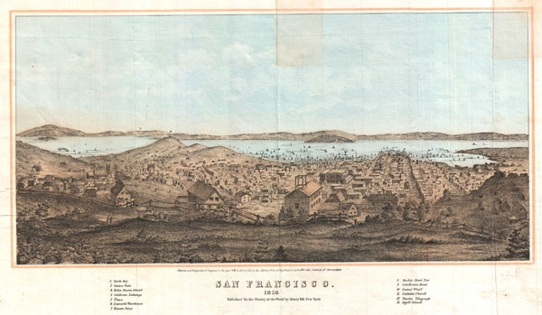San Francisco. 1856. - Main View