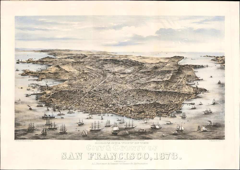 Bird's Eye View of the City and County of San Francisco, 1873. - Main View