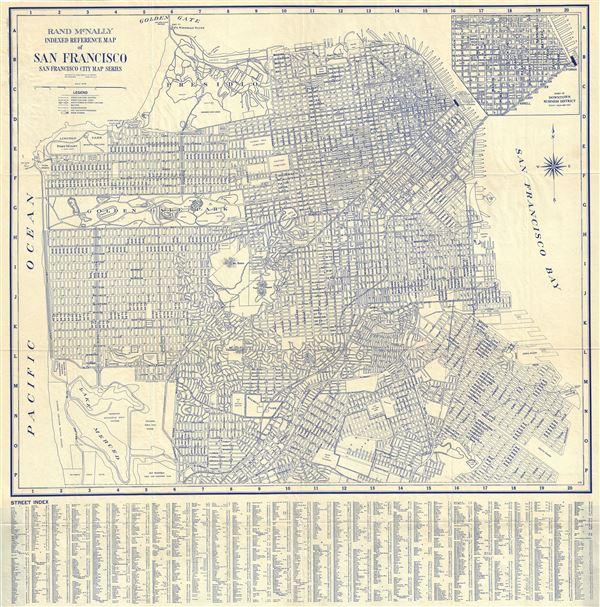 Rand McNally Indexed Reference Map of San Francisco San Francisco City Map Series.
