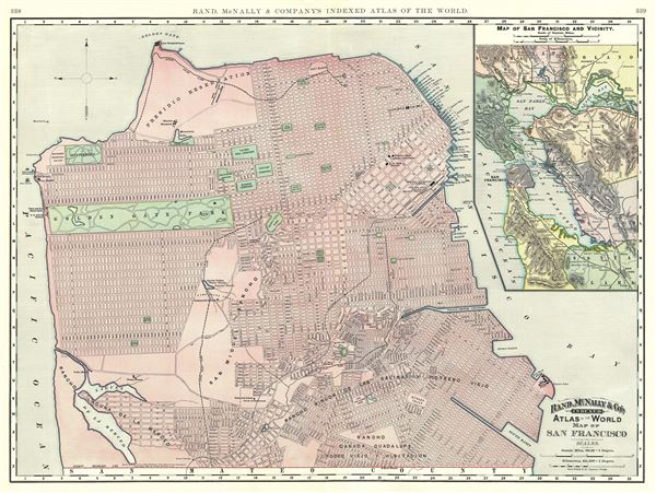 Map of San Francisco. - Main View