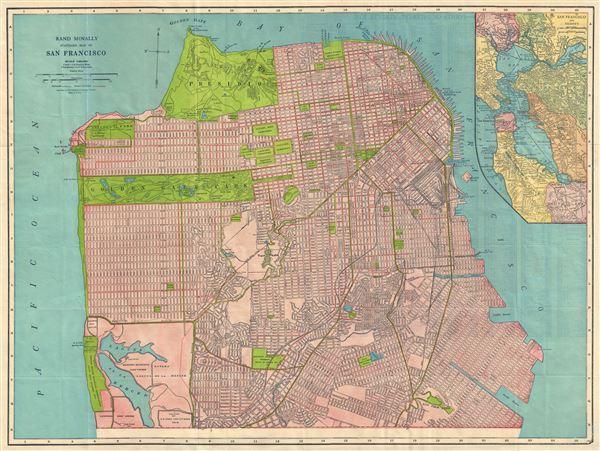 Rand McNally Standard Map of San Francisco. - Main View