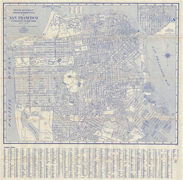 Rand McNally Indexed Reference Map of San Francisco San Francisco City Map Series - Main View