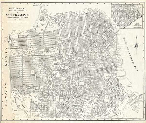 Rand McNally Indexed Reference Map of San Francisco San Francisco City Map Series.