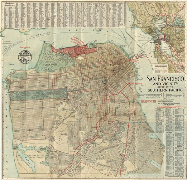 San Francisco and Vicinity Issued by the Southern Pacific. - Main View