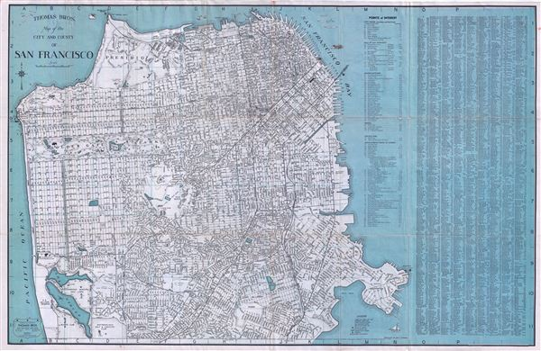 Thomas Bros Map of the City and County of San Francisco.