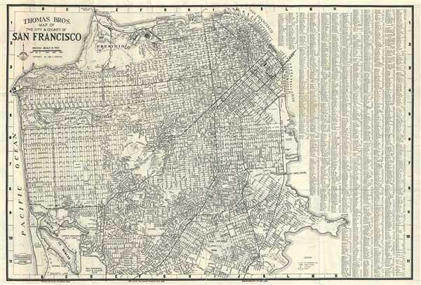 Thomas Bros. map of the city and county of San Francisco.