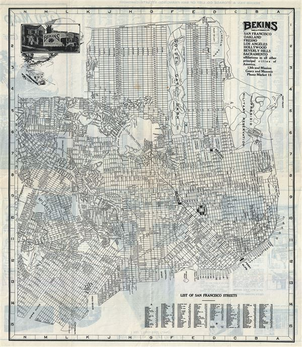City Map of San Francisco, Calif.