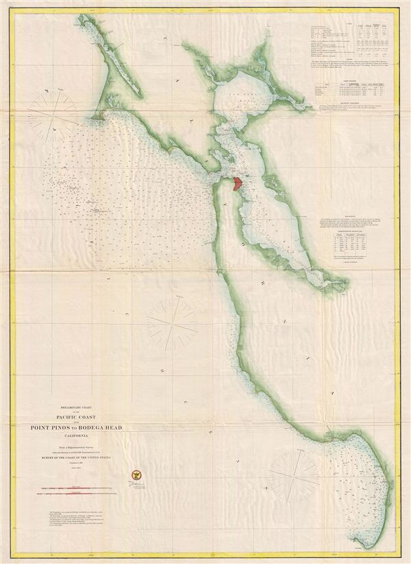 Preliminary Chart of the Pacific Coast from Point Pinos to Bodega Head, California.