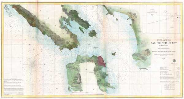 Preliminary Chart of Entrance to San Francisco Bay California.