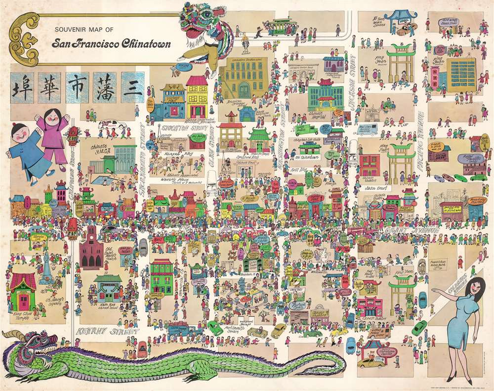 Souvenir Map of San Francisco Chinatown.
