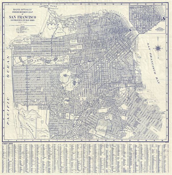 Rand McNally Indexed Reference Map of San Francisco San Francisco City Map Series. - Main View