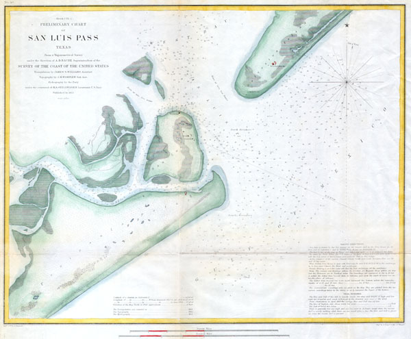 (Sketch 1  No. 4) Preliminary Chart of San Luis Pass Texas.