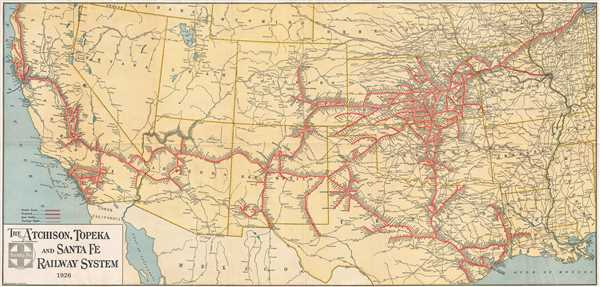 The Atchison, Topeka, and Santa Fe Railway System.