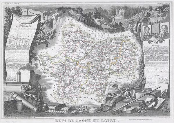 Dept. De Saone et Loire. - Main View