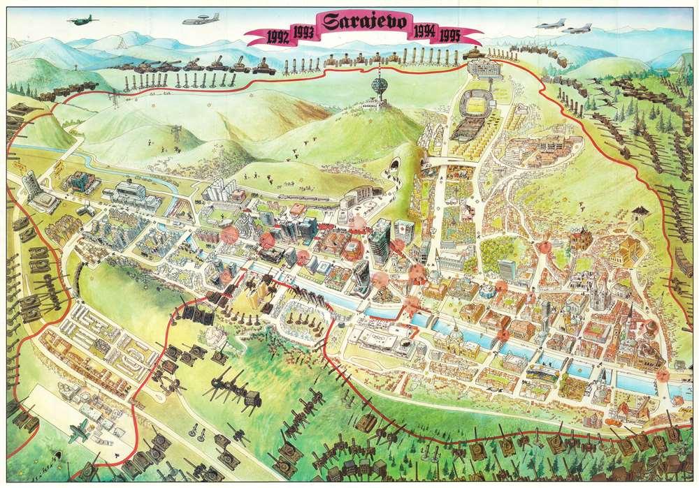 1992 1993 Sarajevo 1994 1995. - Main View