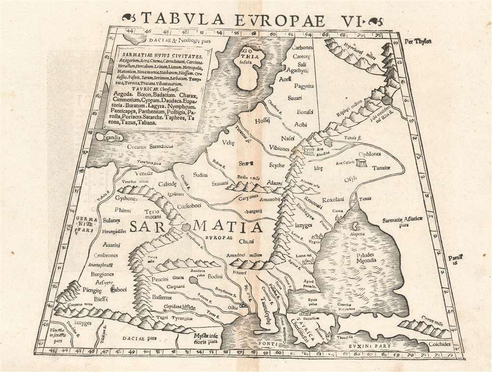 Tabula Europae VI. - Main View