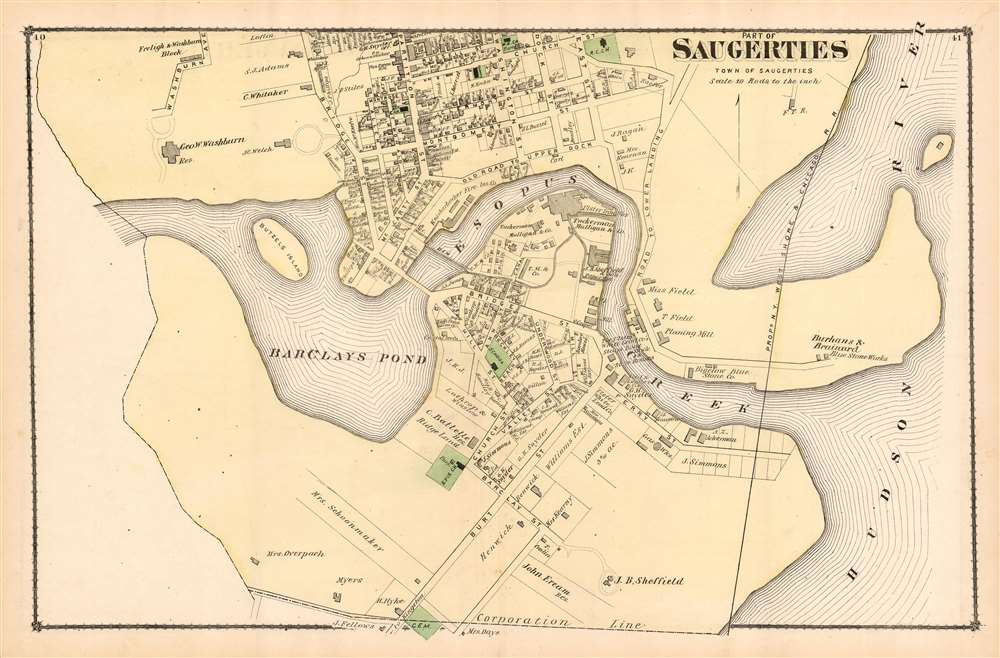 Part of Saugerties: Town of Saugerties. - Main View