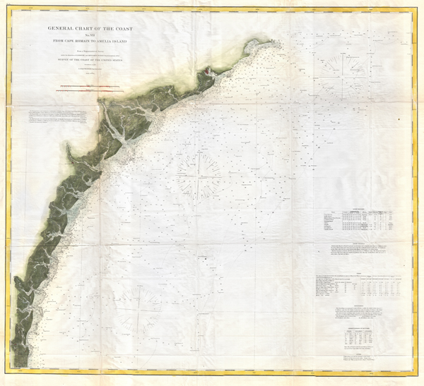 General Chart of the Coast No. VII From Cape Romain to Amelia Island.