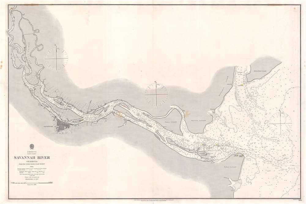 Savannah River Georgia From the United States Coast Survey 1855. - Main View