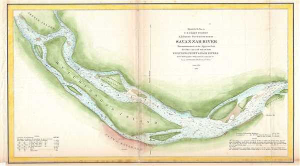 Sketch E No. 4 Savannah River Reconnaissance of the Approaches to the City of Savannah Including Front and Back Rivers.