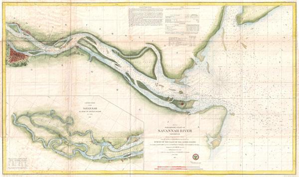 E No 6 Preliminary Chart Of Savannah River Georgia Geographicus - Savannah-on-us-map