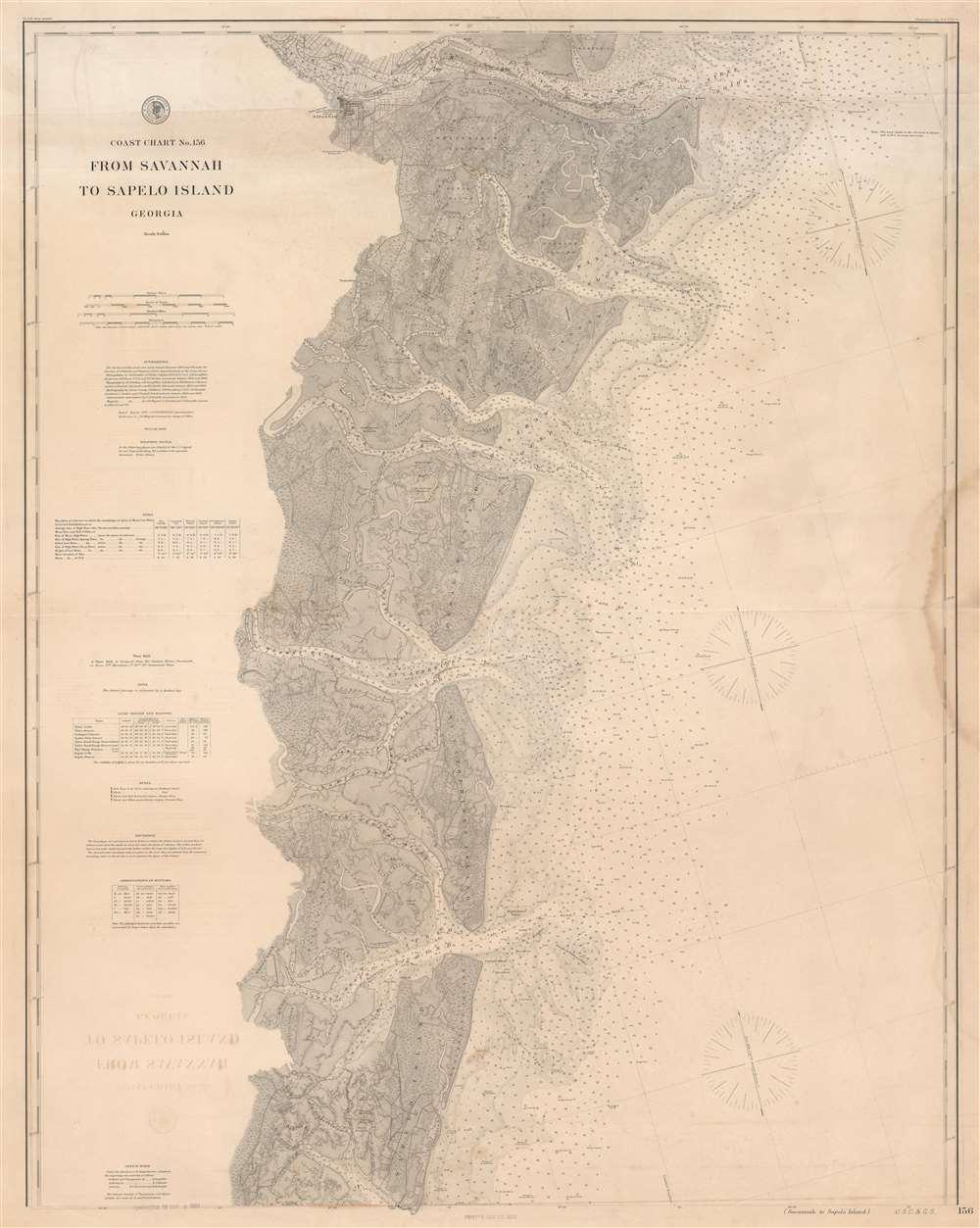 Coast Chart No. 156 From Savannah to Sapelo Island Georgia. - Main View