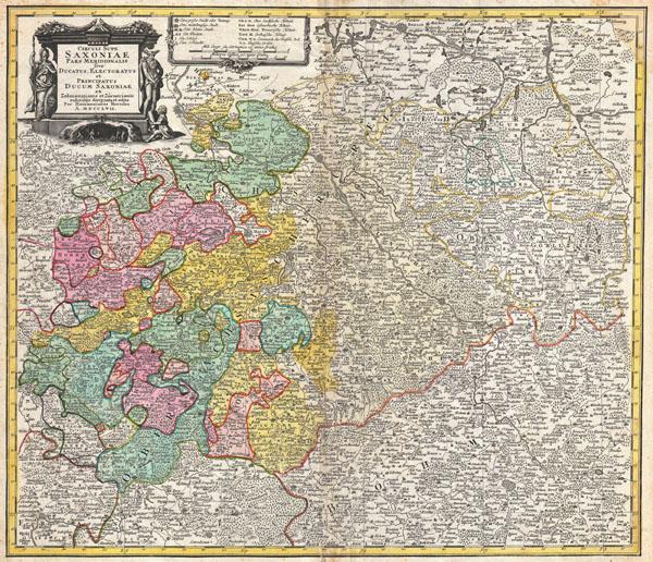 Circuli Supe. Saxoniae Pars Meridionalis sive Ducatus Electoratus et Principatus Ducum Saxoniae…