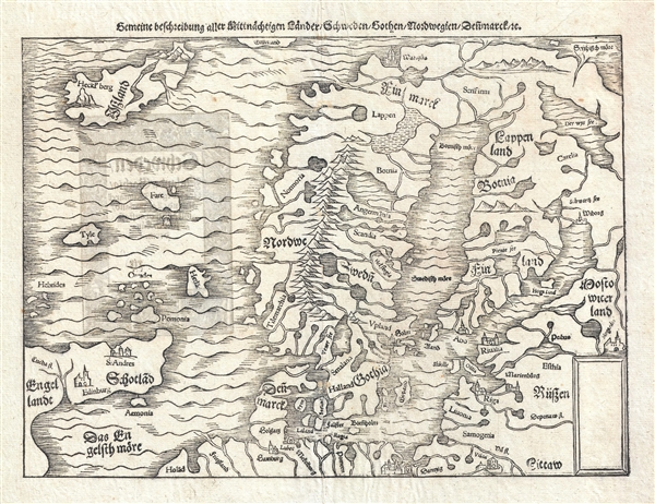 Gemeine Beschreibung Aller Mitnachtigen Lander Schweden, Gothen, Nordwegien, Dennmarck